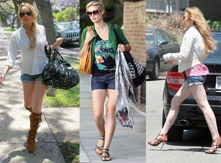 Bu yaz mini şortlar moda