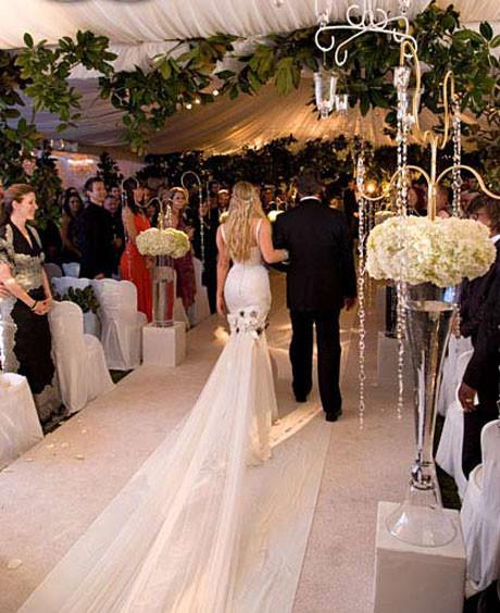 Fergienin düğününden kareler