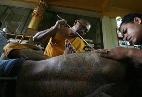 Taylandda dövme sanatı