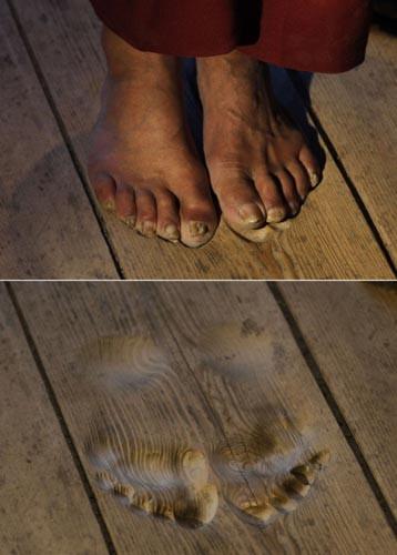 Budist rahibin ayak izleri !