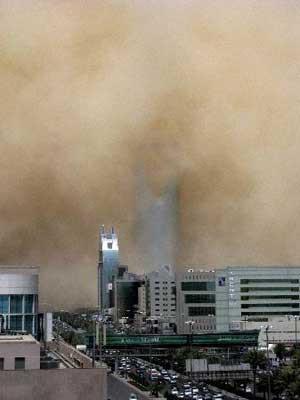 Riyadda kum fırtınası !