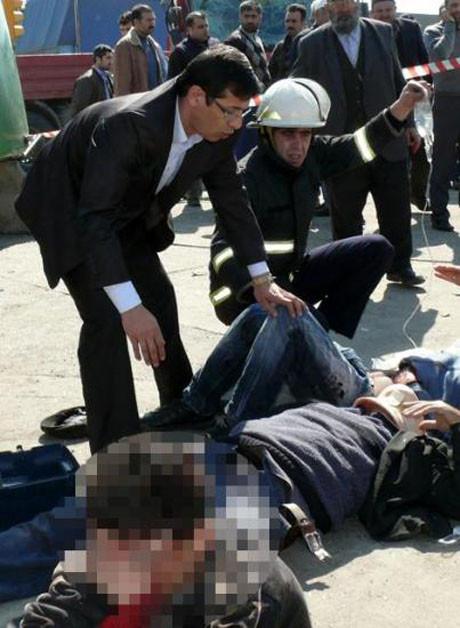 Halk otobüsü kaza yaptı, 20 yaralı !