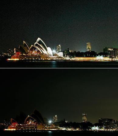 Avustralya karanlığa gömüldü
