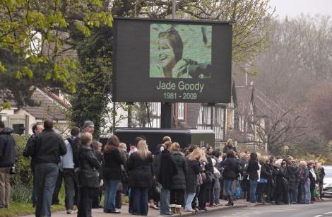 Jade Goody'nin cenaze töreni