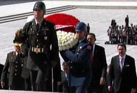 Anıtkabirde Obama farkı !