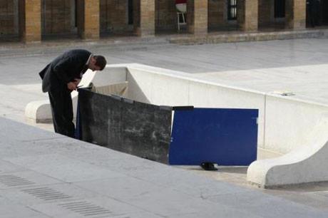 Anıtkabirde yoğun güvenlik