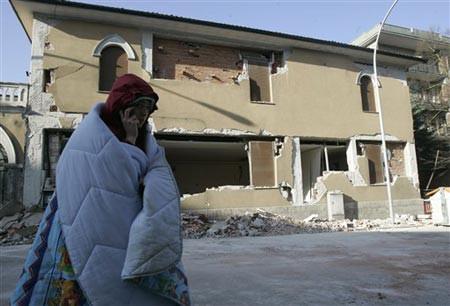İtalyadaki deprem görüntüleri
