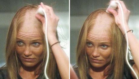 Saçlarını kazıttı !