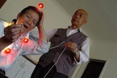 Elektrik saçan Çinli
