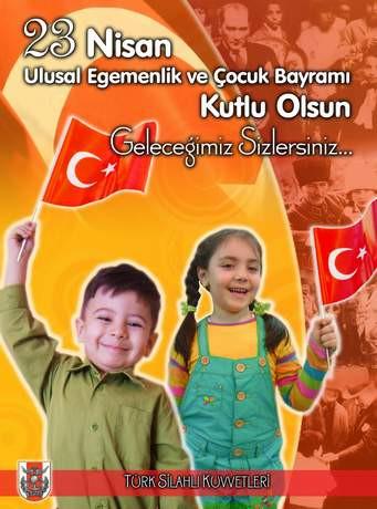 Genelkurmaydan 23 Nisan afişleri