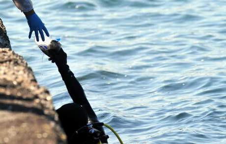 Denizden mühimmat çıktı