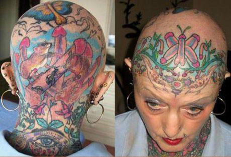 Hayatı dövme yaptırmakla geçmiş !