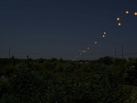 İngilterede UFO görüntülendi !