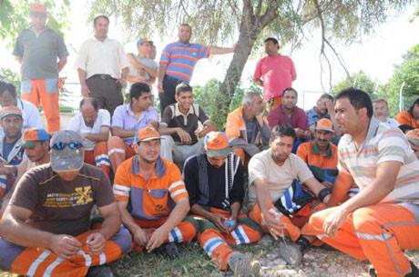 Edirnede işçiler eylem yaptı