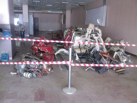 Helikopter kazasından ilk kez yayınlanan fotoğraflar