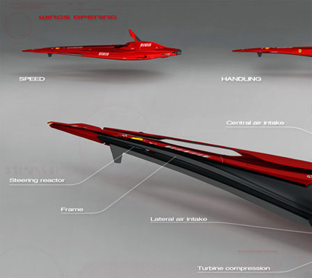 Bu da uçan Ferrari