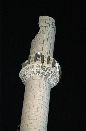 Camiye yıldırım düştü !