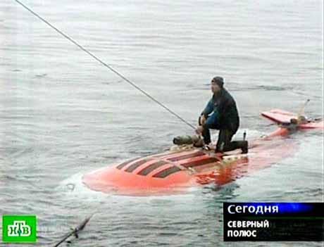 Rusya Kuzey Kutbunun dibine bayrak dikti