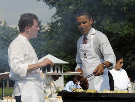 Beyaz Sarayda mangal partisi