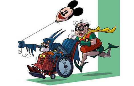 Süperkahramanlar yaşlanırsa !