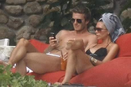 Beckham çifti tatilde