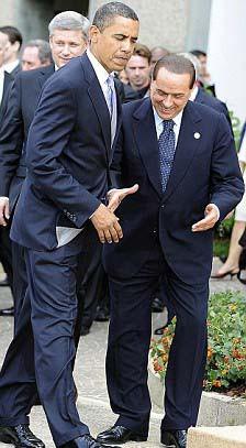 Berlusconinin zor anları