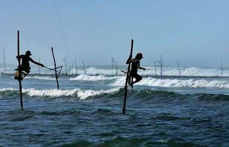 Sopalı balıkçılar