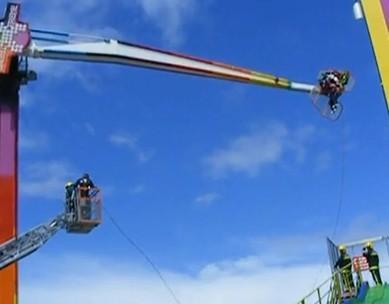15 metre yüksekte asılı kaldılar