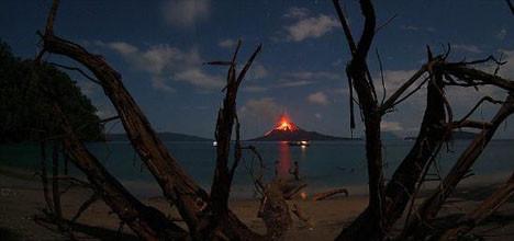 Korkutan yanardağ faaliyete geçti