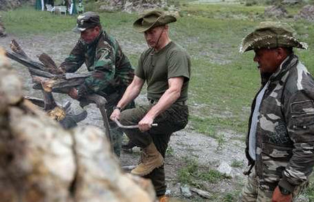 Putin dağa çıktı !