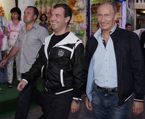 Rus liderlerin maç keyfi