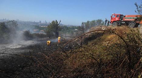 Çamlıcada orman yangını