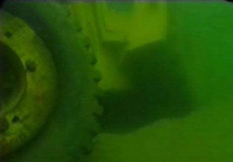 Su altında kalan yerlerden kareler