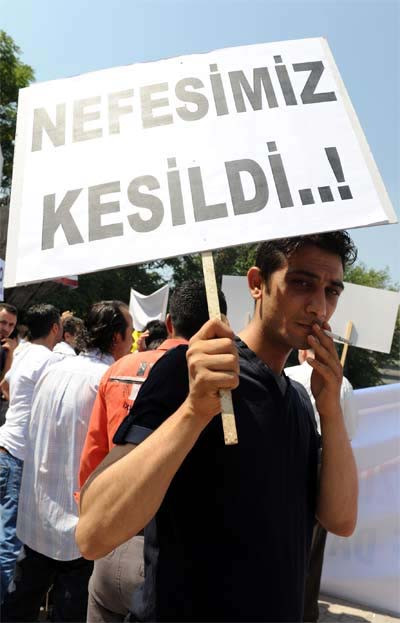 Ankarada sigara eylemi