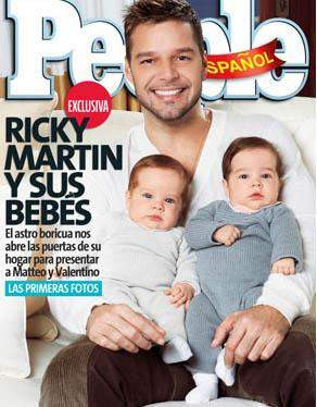 İşte Ricky Martinin ikizleri