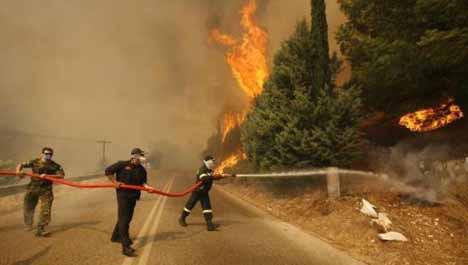 Atinada büyük yangın !