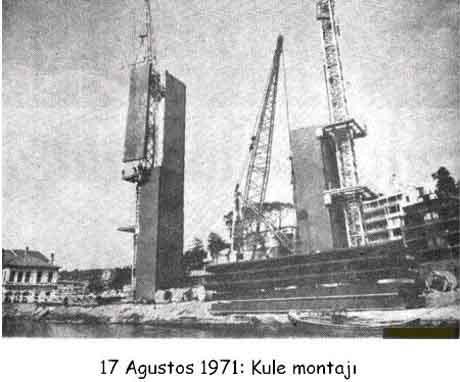 Boğaziçi Köprüsünün inşaatı
