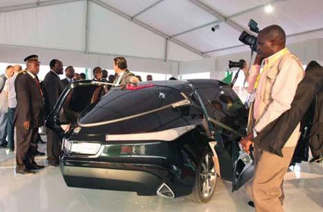 İşte Kaddafi in tasarladığı araba