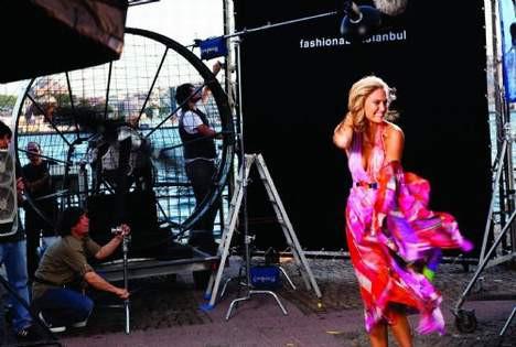 Bar Refaeli İstanbul çekimleri