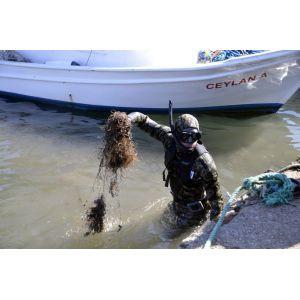 Bodrumda deniz dibi ve kıyı temizliği