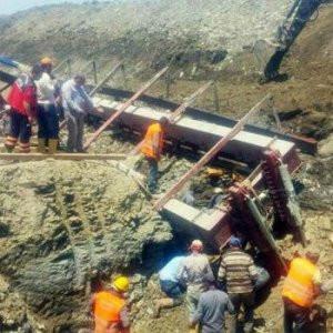 Edirne'deki baraj inşaatında göçük !