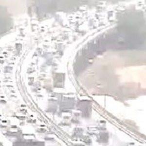 TEM'i kilitleyen zincirleme trafik kazası !