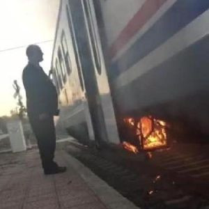 Yolcu treninde yangın dehşeti !