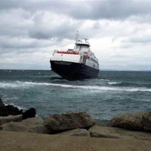Çimento yüklü gemi karaya oturdu !