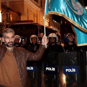 Ülkücüler Türkmenler için sokağa indi
