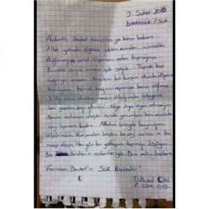 Şehitten ağlatan mektup