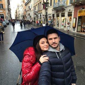 Ünlü çift kahvaltı için Roma'ya gitti