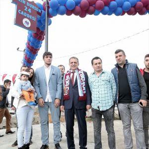 """Trabzon'da, """"Salih Dursun Caddesi"""" Açıldı"""