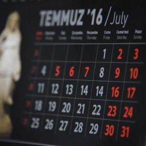 Takvimdeki 15 Temmuz hatası için soruşturma