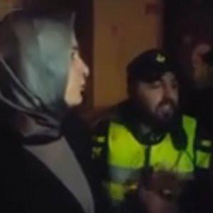 Bakan Kaya'nın Hollanda polisi ile tartışma anı